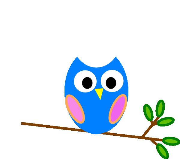 Free halloween owl clipart vector free stock Blue Owl Clip Art at Clker.com - vector clip art online, royalty ... vector free stock