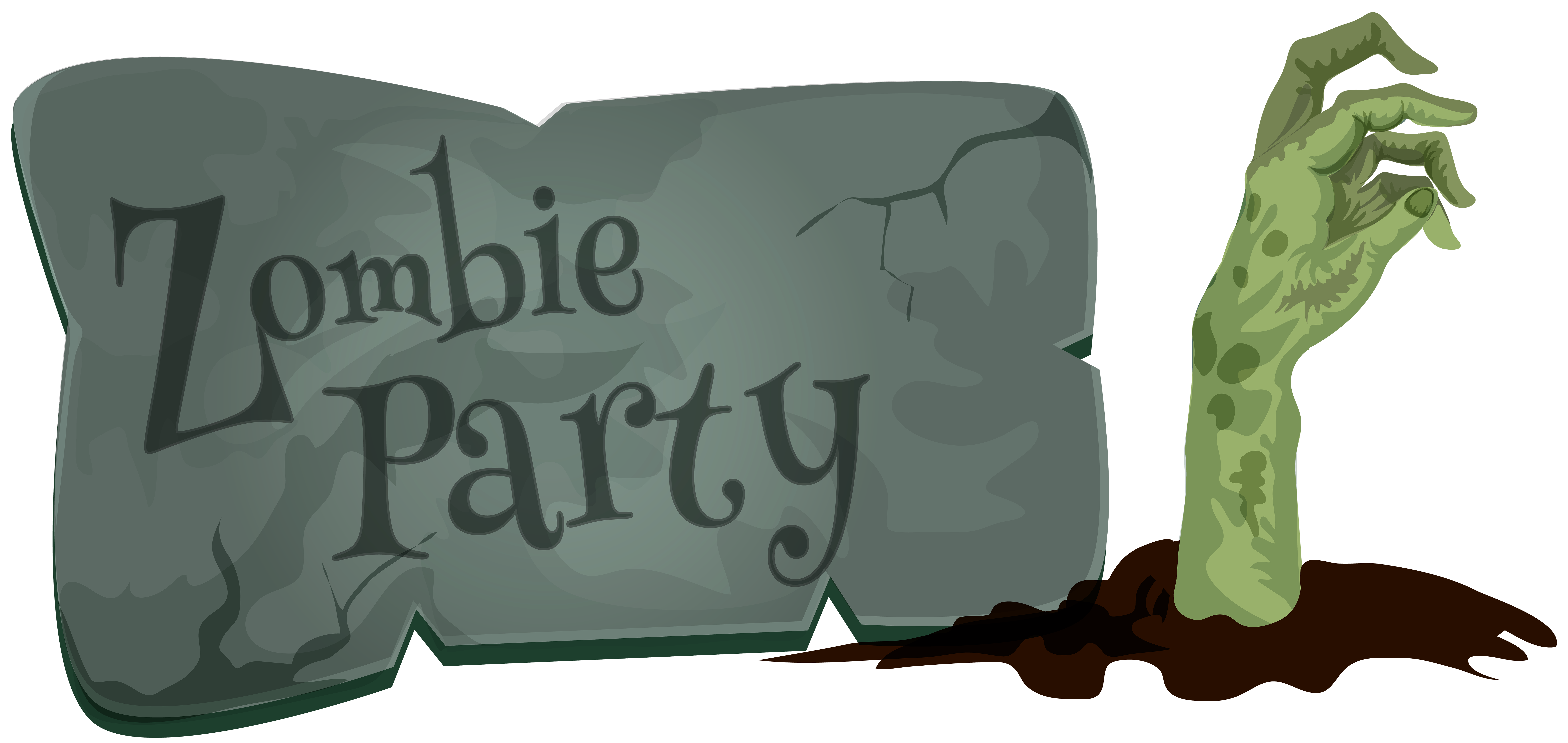 Halloween Zombie Party PNG Clip Art | Gallery Yopriceville - High ... clip black and white stock