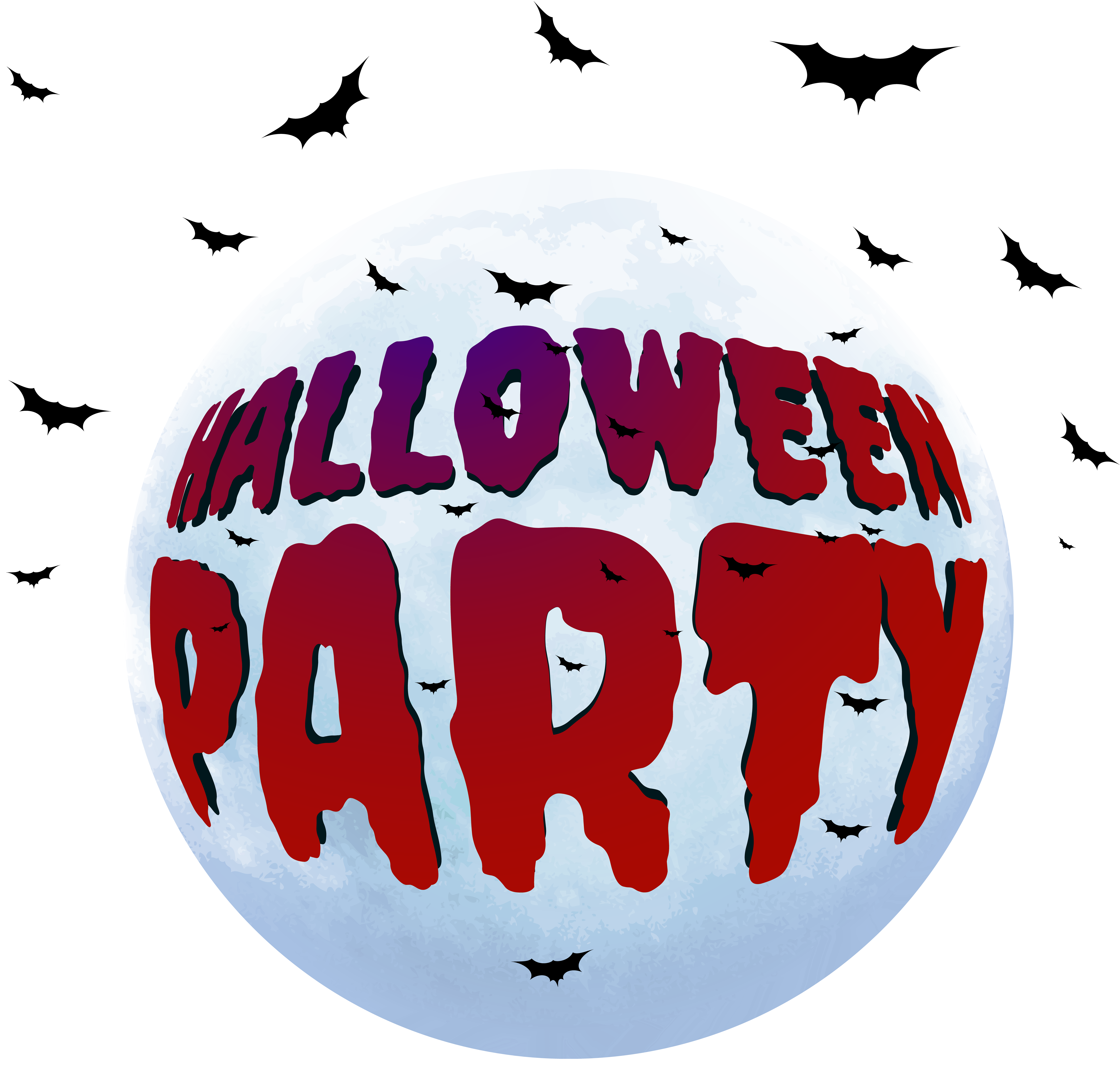 Halloween party banner clipart clip transparent stock Halloween Party PNG Clip Art Image | Gallery Yopriceville - High ... clip transparent stock