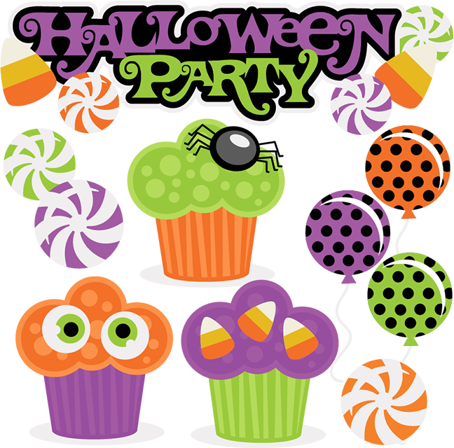 Halloween party at a park clipart vector library library 28+ Collection of Free Halloween Party Clipart | High quality, free ... vector library library