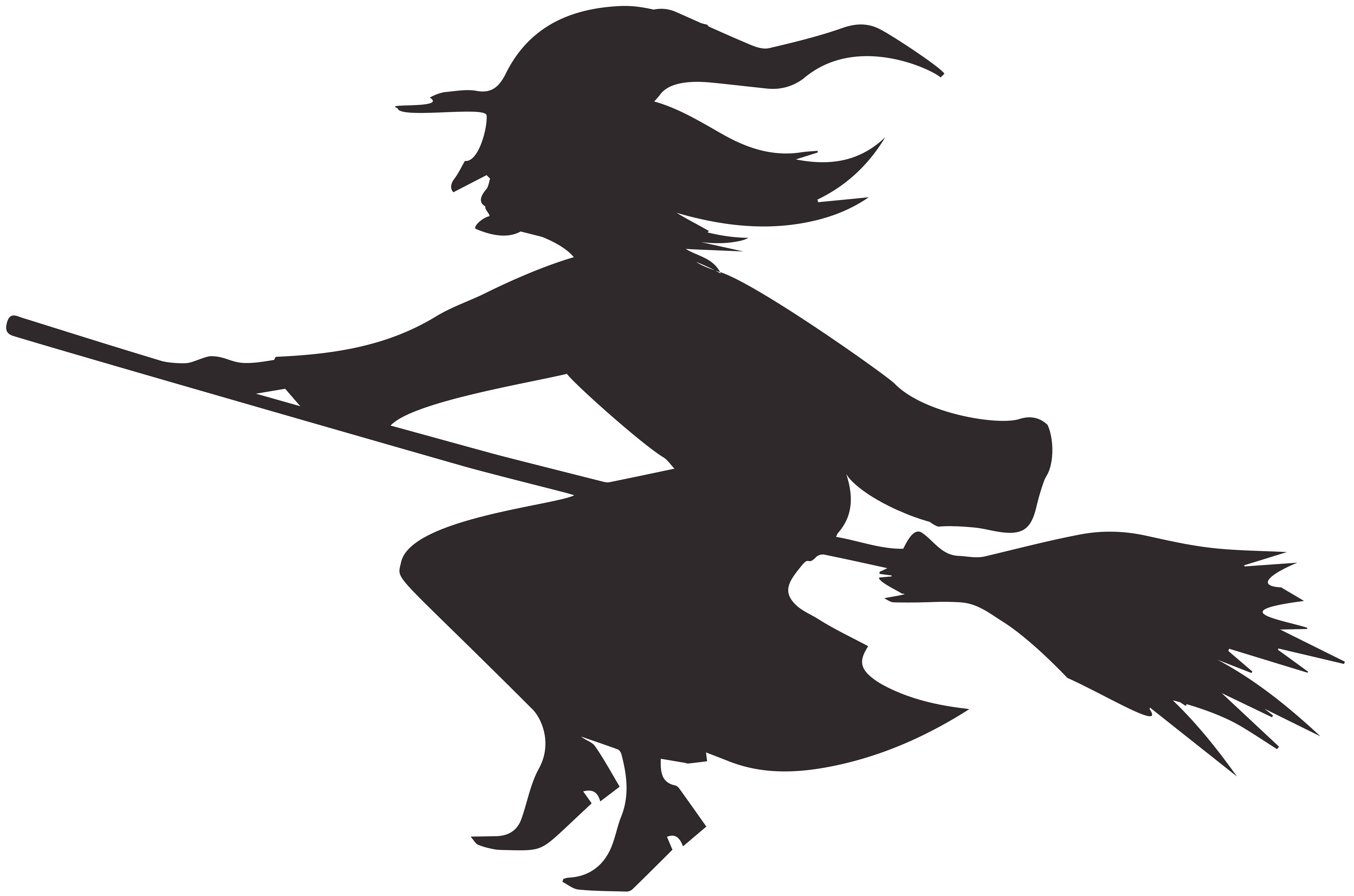 Free halloween silhouette clipart picture free download Halloween Witch Silhouette PNG Clip Art Image | Gallery ... picture free download