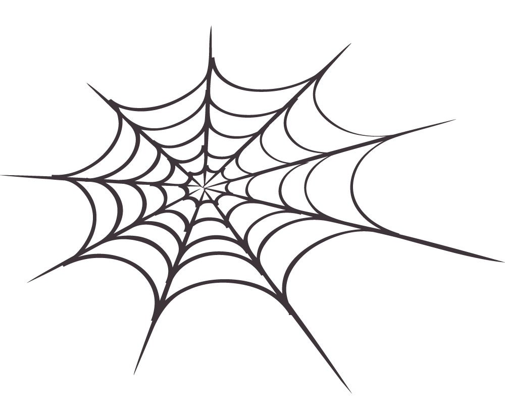 Halloween clipart spider web jpg black and white library 28+ Collection of White Spider Web Clipart | High quality, free ... jpg black and white library
