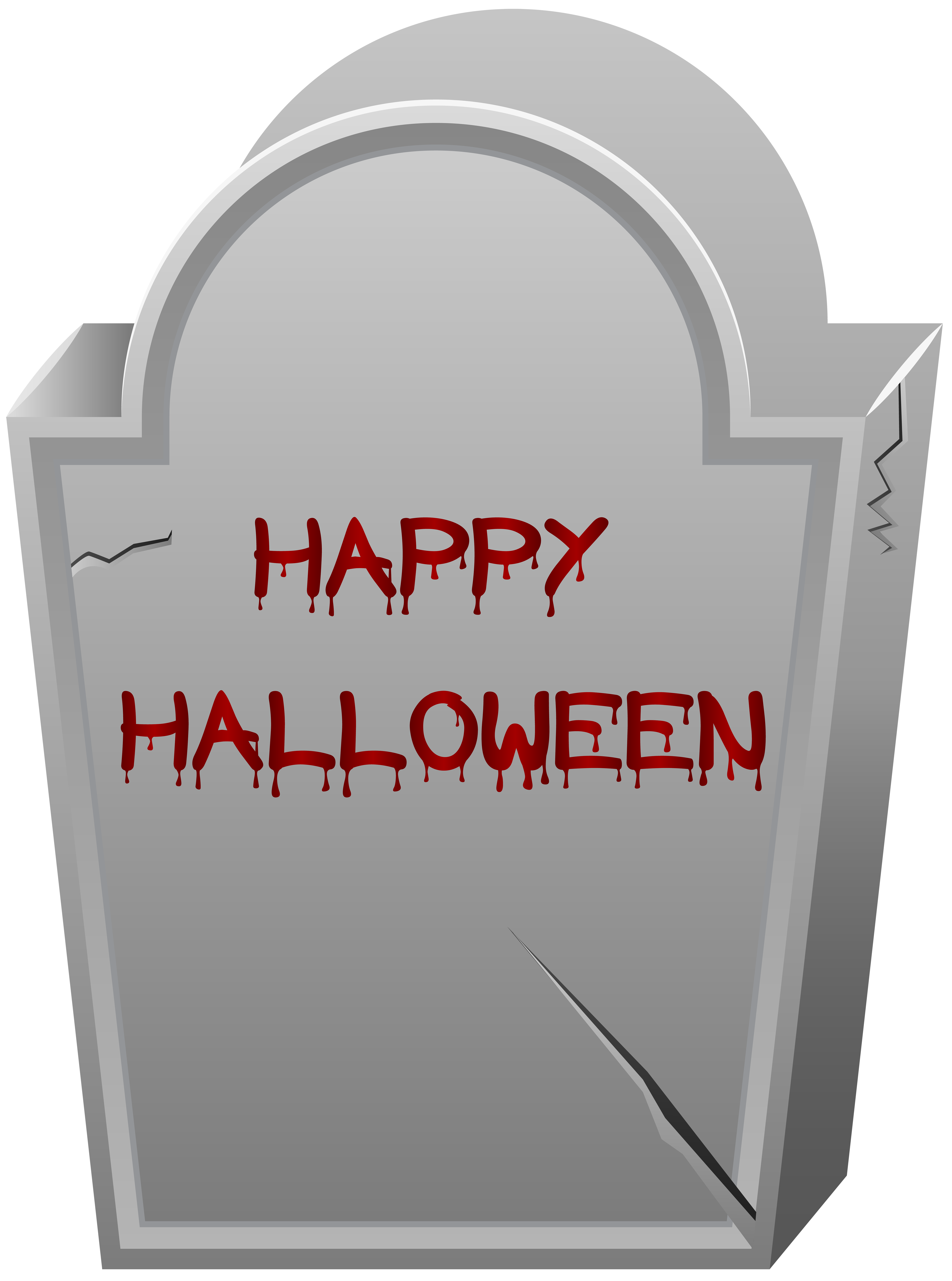 Halloween tombstone silhouette clipart picture black and white download Happy Halloween Tombstone PNG Clip Art Image | Gallery Yopriceville ... picture black and white download