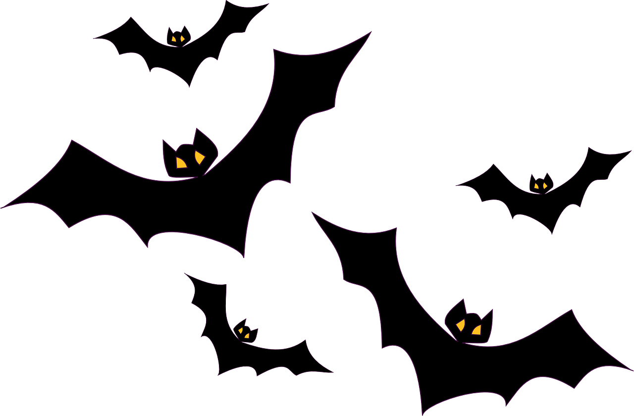 Halloween cartoon characters clipart image black and white Bat Clipart Printable Halloween Decoration image black and white