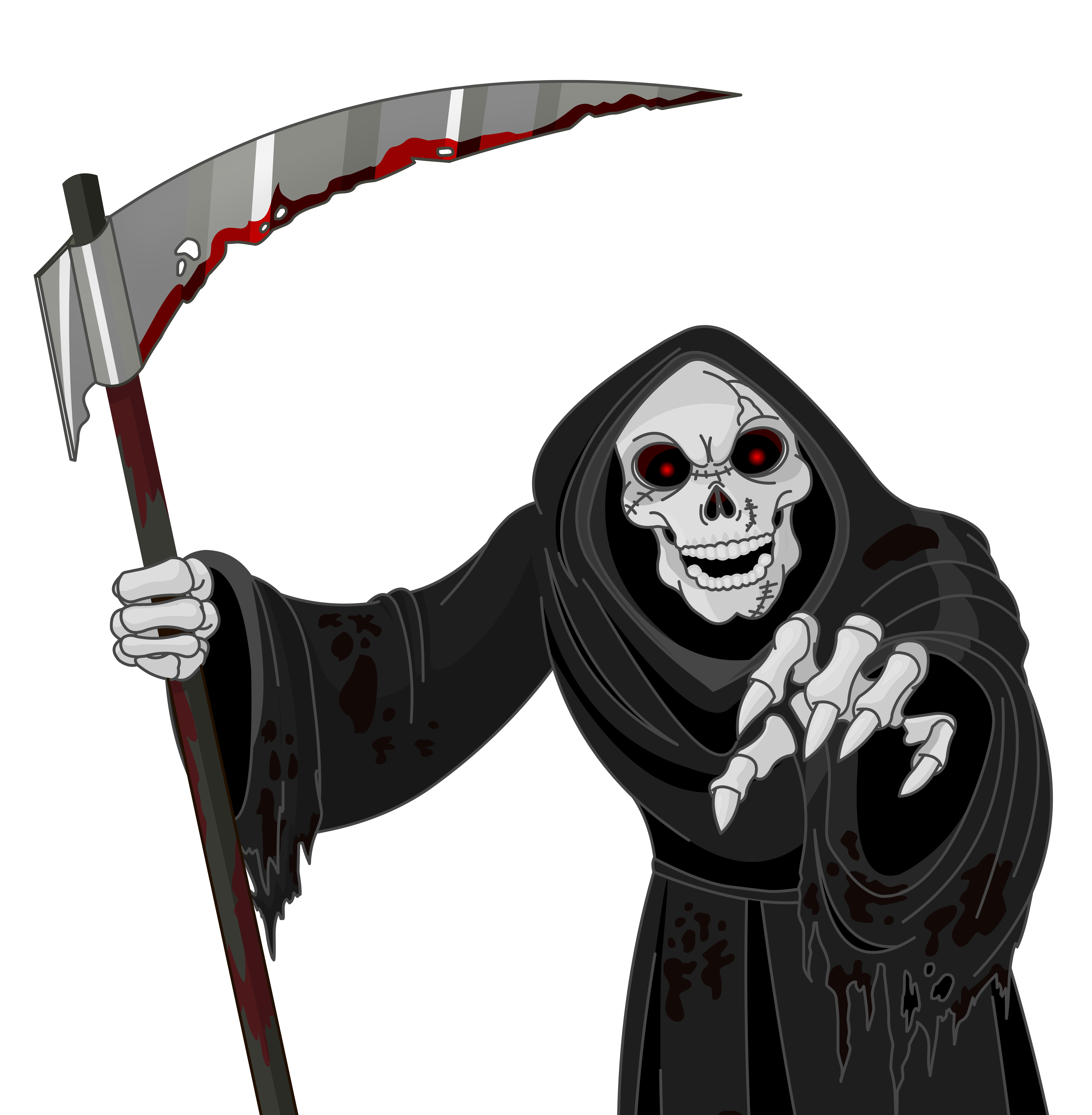 Halloween clipart vectors clip free Scary Grim Reaper PNG Vector Clipart | Gallery Yopriceville - High ... clip free