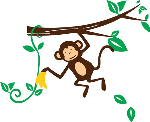 Monkey on vine clipart picture library download Free Hang Cliparts, Download Free Clip Art, Free Clip Art on Clipart ... picture library download