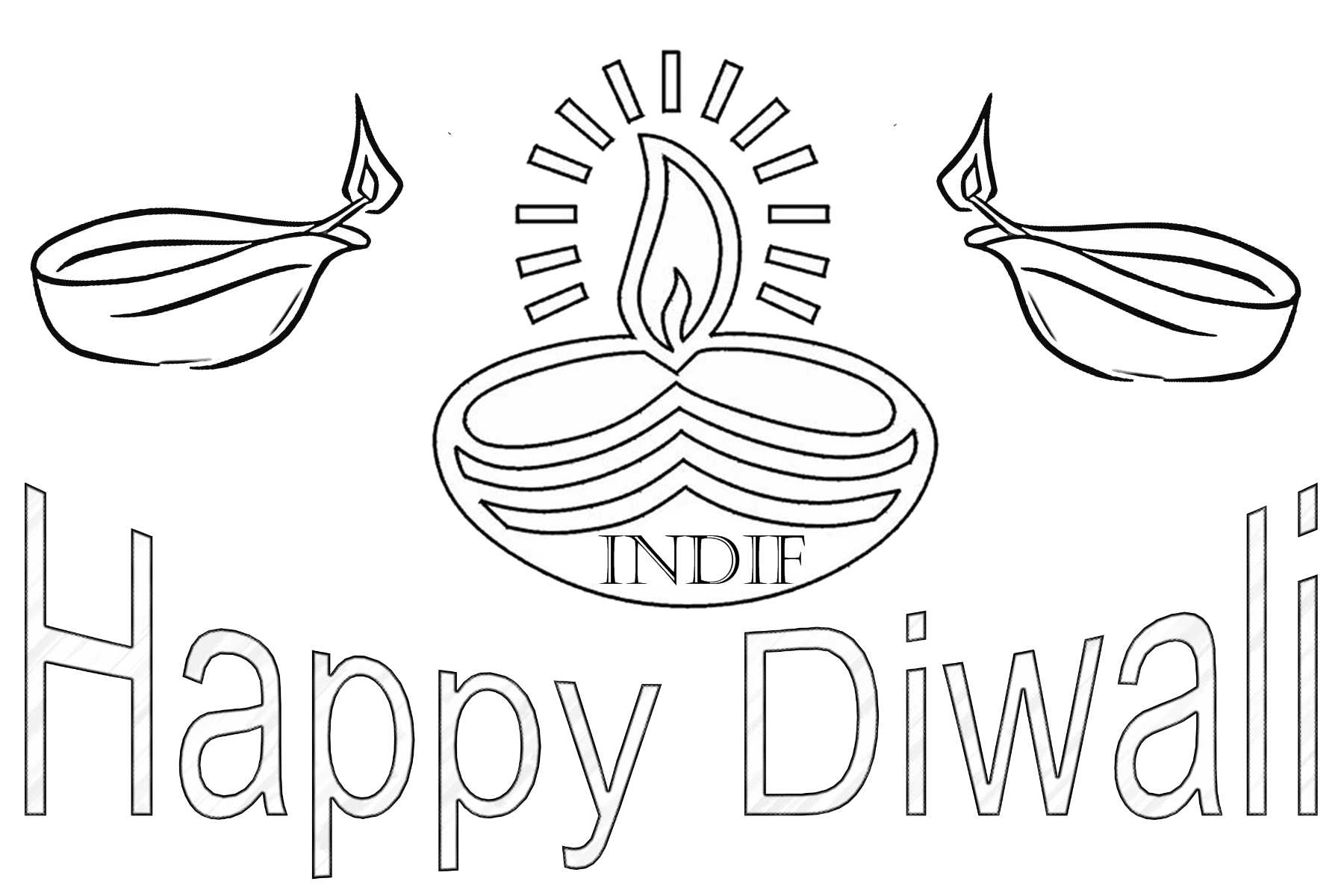 Free happy 2016 black & white clipart vector freeuse library Happy diwali clipart black and white 12 » Clipart Station vector freeuse library