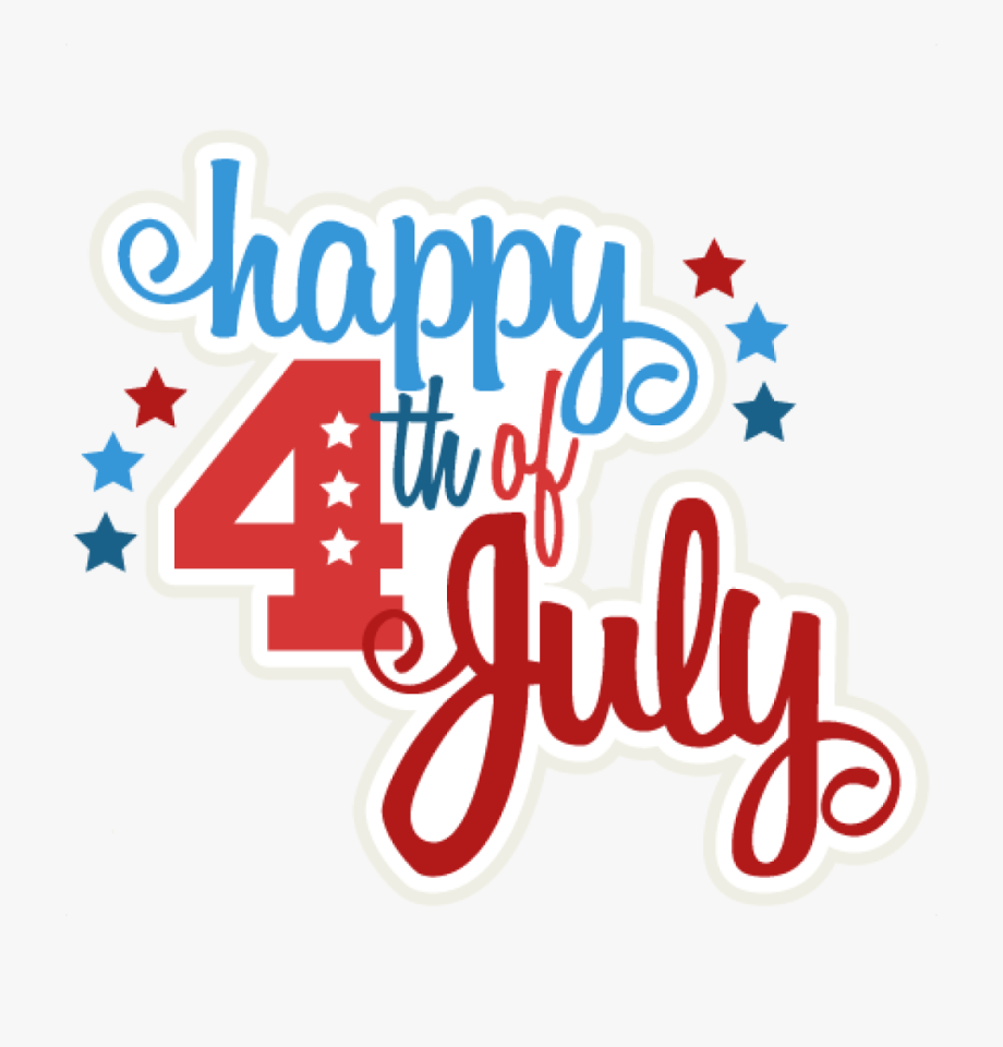 Free happy 4th of july clipart clipart black and white stock Happy 4th Of July Clipart Happy 4th Of July Svg Scrapbook - Happy ... clipart black and white stock