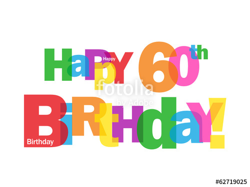 Library of free happy 60th birthday clip royalty free ... (500 x 375 Pixel)