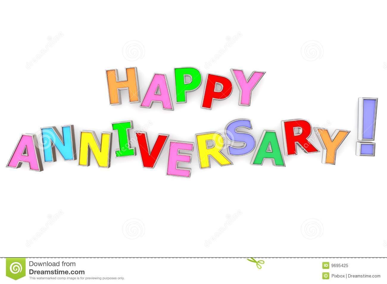 Free happy anniversary clip art clip art stock Colourful Happy Anniversary Royalty Free Stock Photo - Image: 9695425 clip art stock