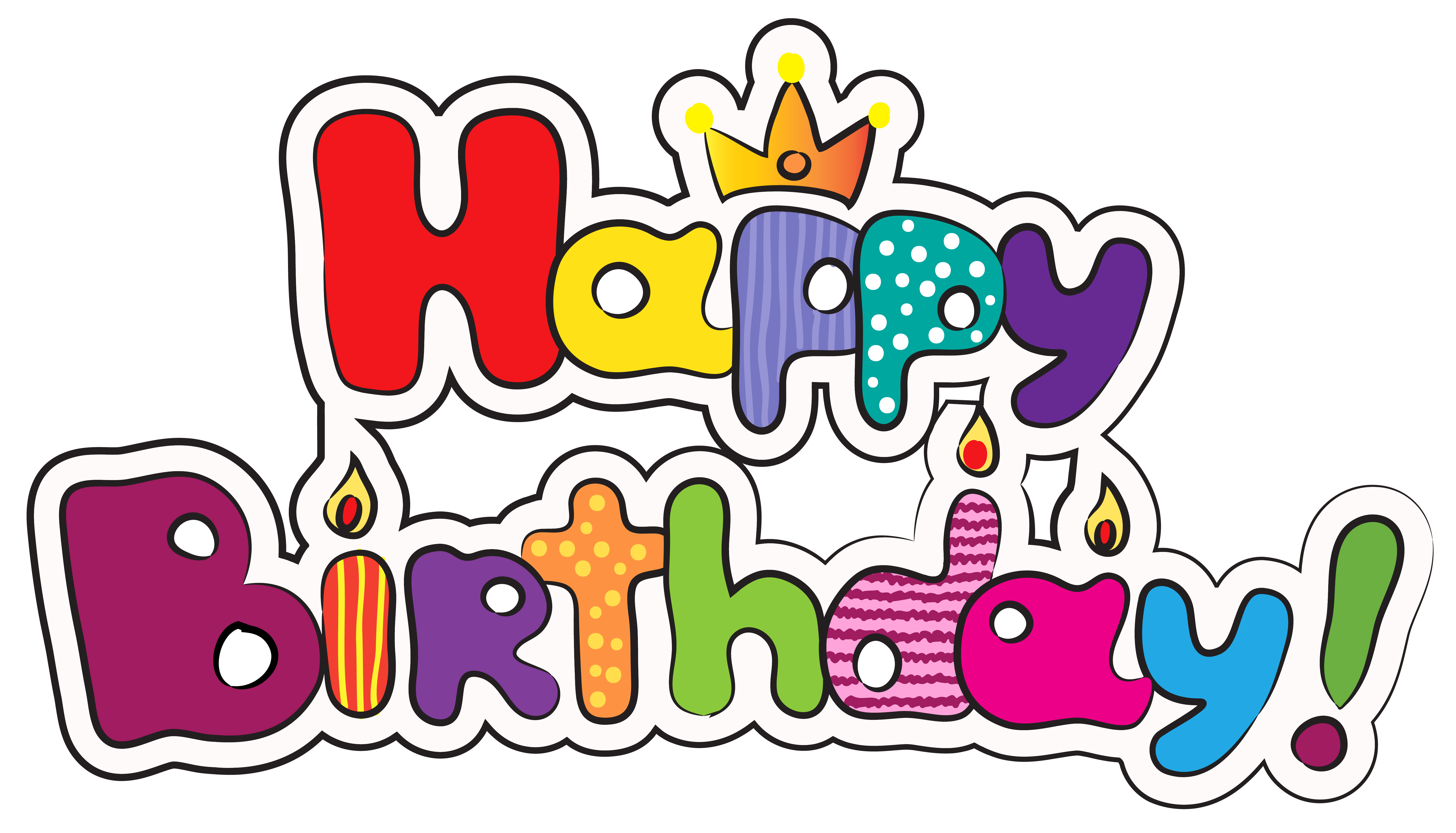 Free happy birthday clipart for facebook royalty free library Colorful Happy Birthday PNG Clipart Image | Gallery Yopriceville ... royalty free library