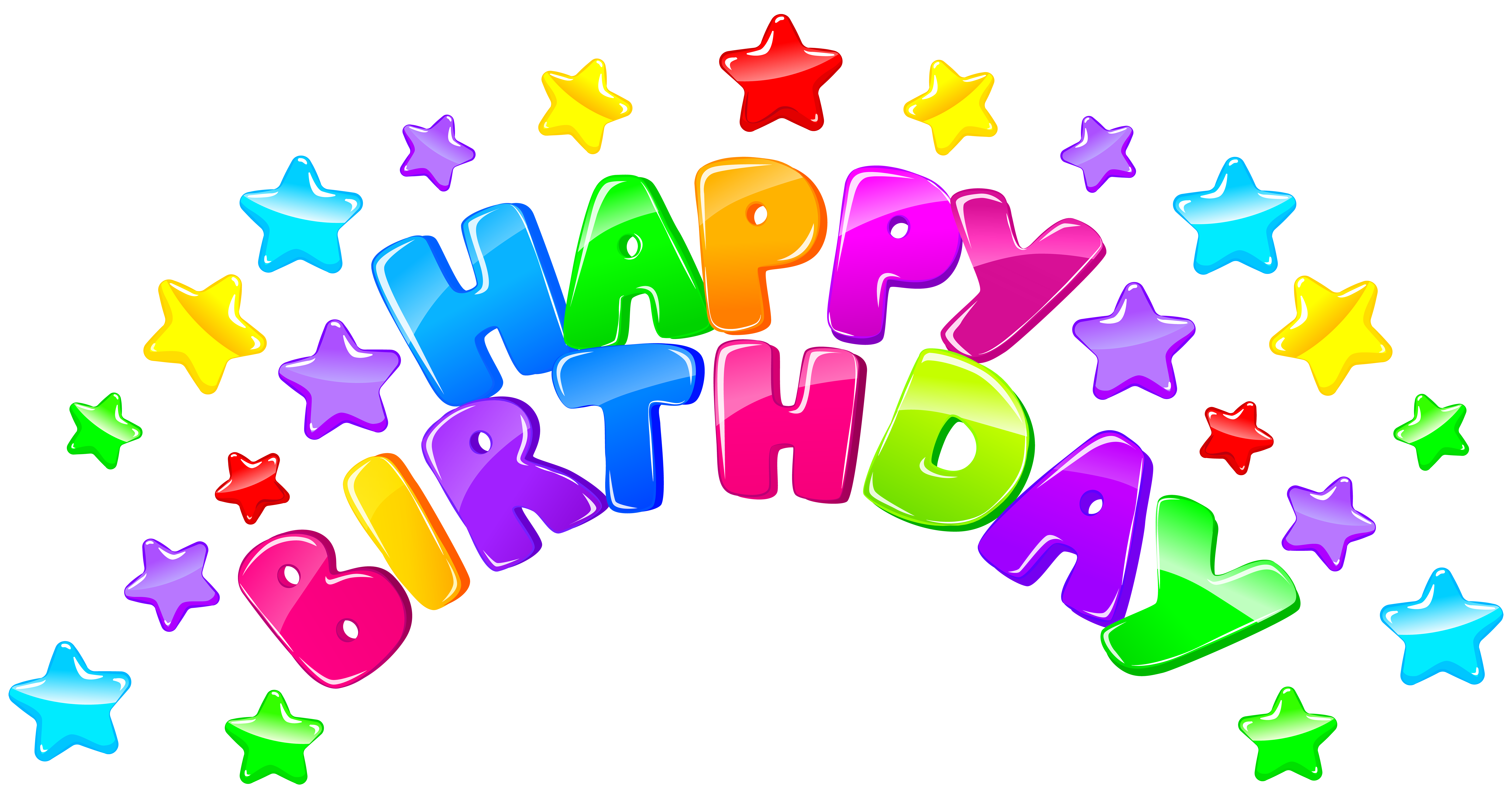 Free happy birthday clipart for facebook banner library library Happy Birthday Decor with Stars PNG Clip Art Image | Gallery ... banner library library