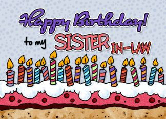 Free happy birthday sister in law clipart image royalty free stock Happy Birthday to my sister-in-law (381874) | birthday cards | Happy ... image royalty free stock