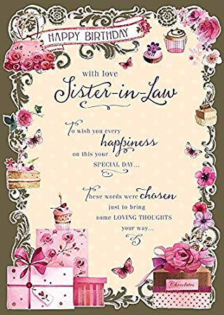 Free happy birthday sister in law clipart jpg transparent library Wishing Well Studios Greetings Card - Sister-in-Law Birthday jpg transparent library