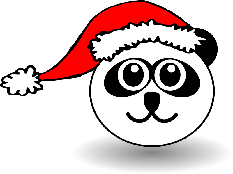 Free happy face with santa hat clipart clip art black and white stock Free Santa Face Picture, Download Free Clip Art, Free Clip Art on ... clip art black and white stock
