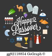 Free happy passover clipart banner black and white download Happy Passover Clip Art - Royalty Free - GoGraph banner black and white download