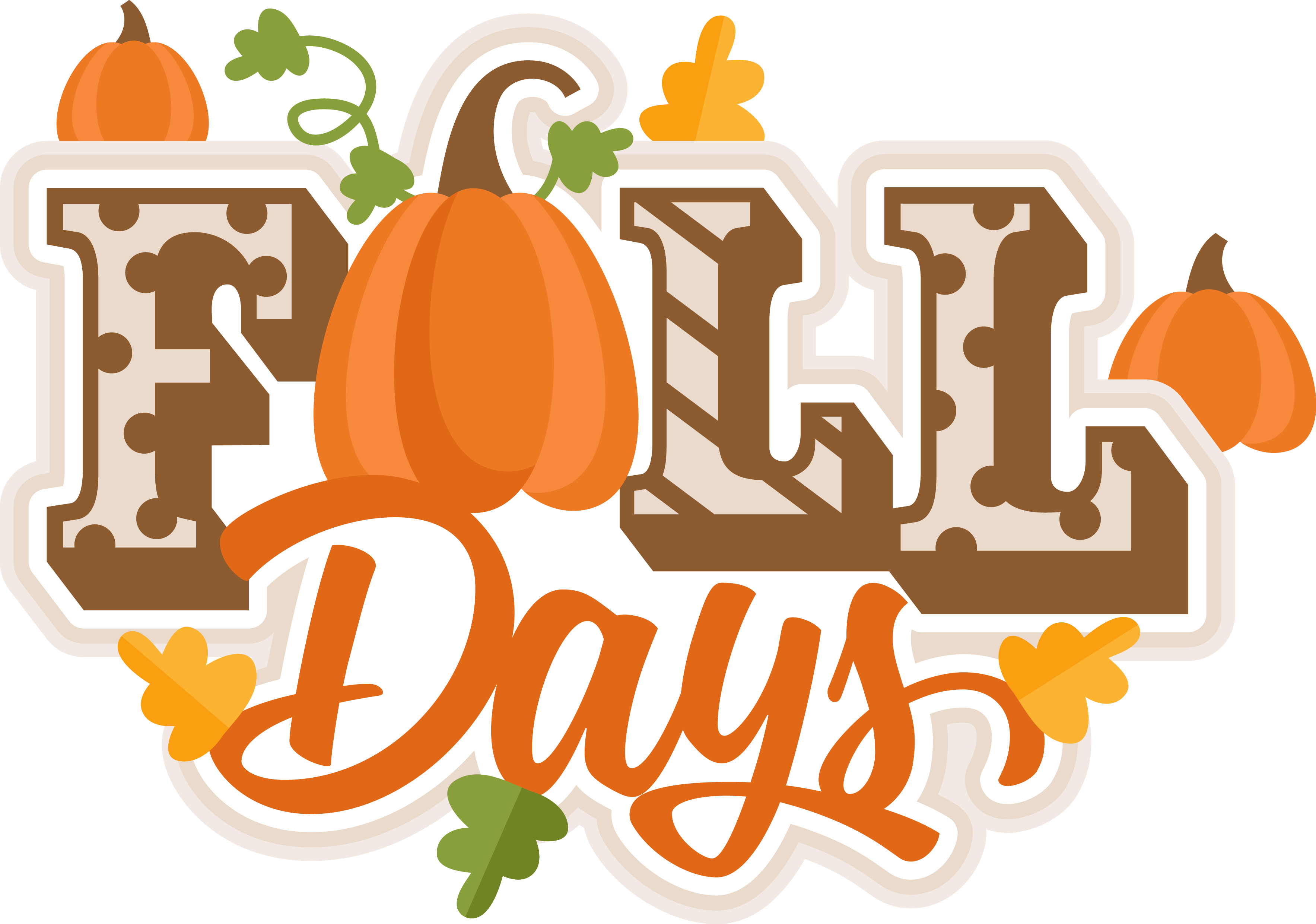 Free happy pumpkin spice season clipart banner freeuse stock MKC_FallDaysTitle_SVG | S_SVG_MKC_Miss Kate Cuttables | Pinterest banner freeuse stock