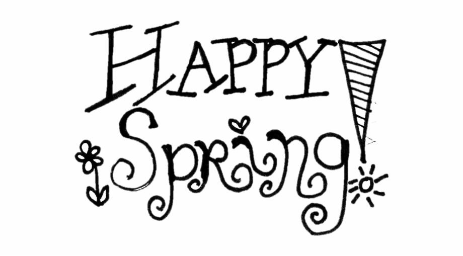 Spring clipart black and white free picture freeuse download Free Happy Spring Cliparts, Download Free Clip Art, - Spring Break ... picture freeuse download