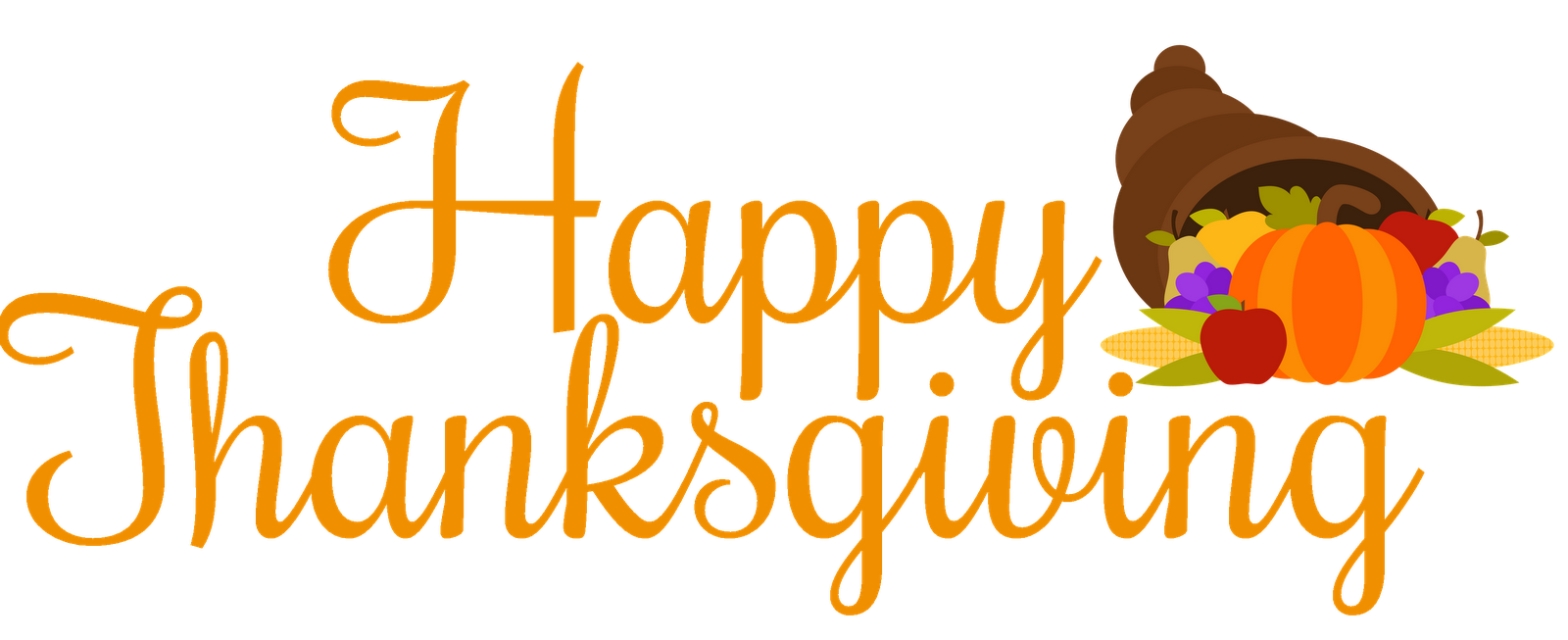 Free happy thanksgiving clipart to friends and family svg black and white stock Happy thanksgiving clip art free Images Pictures 2019 | Happy ... svg black and white stock