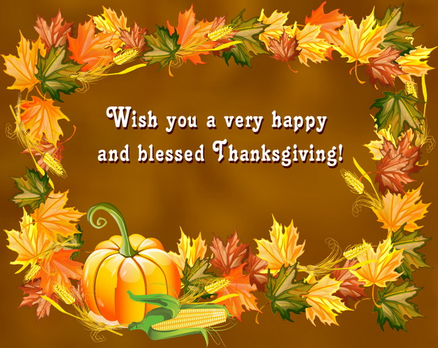 Free happy thanksgiving clipart to friends and family vector free library Happy Thanksgiving Day\
