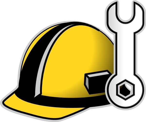 Clip art vector in. Free hard hat clipart
