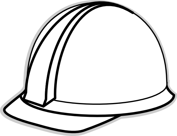 Free hard hat clipart svg black and white Hard Hat Template for Teacher   White Hard Hat 2 clip art - vector ... svg black and white