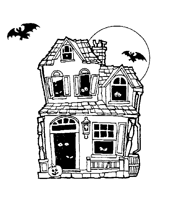Haunted castle clipart black and white picture transparent download House black and white free haunted house clipart halloween clip art ... picture transparent download