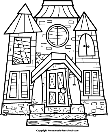 Free haunted house clipart black and white clip art freeuse stock 20+ Haunted House Clipart Black And White   ClipartLook clip art freeuse stock