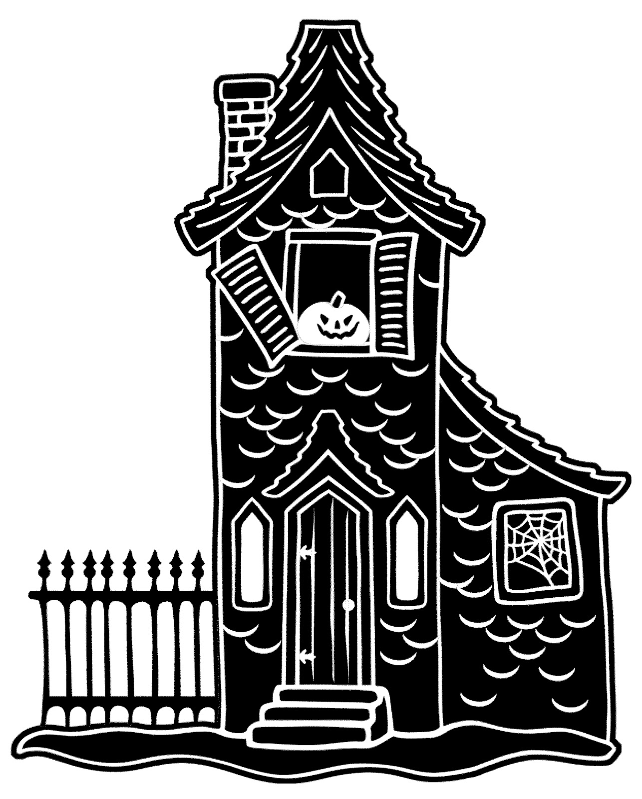 Free haunted house clipart black and white picture free library Free Haunted House Clipart, Download Free Clip Art, Free Clip Art on ... picture free library