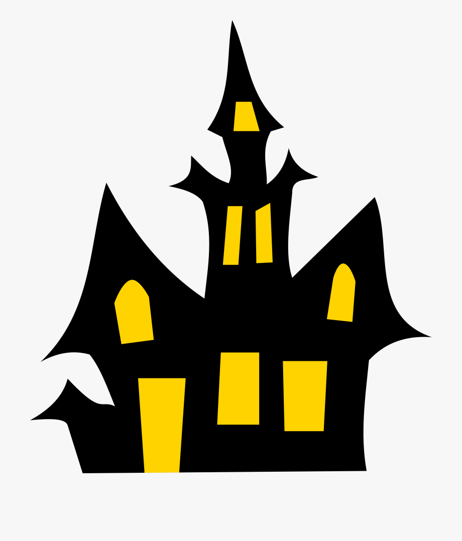 Free haunted house clipart black and white png royalty free library Haunted House Clip Art - Haunted House Clipart , Transparent Cartoon ... png royalty free library