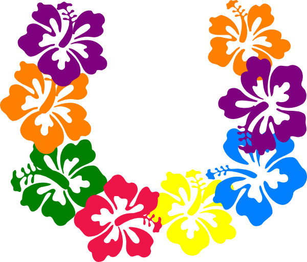 Hawaiian flower clipart border graphic black and white download Hawaiian Flower Clip Art Borders | Clipart Panda - Free Clipart Images graphic black and white download