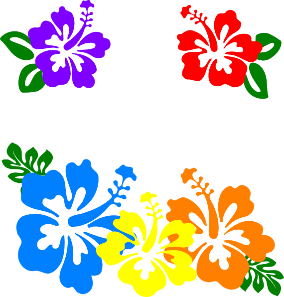 Hawiian flower clipart graphic freeuse stock Hawaiian Flower Clip Art Borders | Clipart Panda - Free Clipart Images graphic freeuse stock