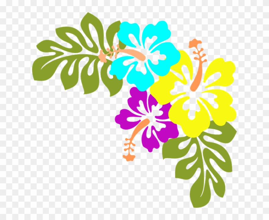 Free hawaiian luau clipart picture library download Luau Clipart Flower Free Hawaiian Collection Hibiscus - Hawaiian ... picture library download