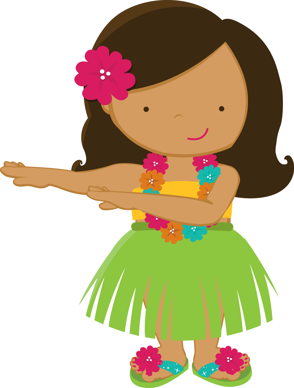 Free hawaiian thanksgiving clipart clip black and white library ZWD_Yellow_Hibiscus - ZWD_Hula_Girl_01.png - Minus | clipart ... clip black and white library