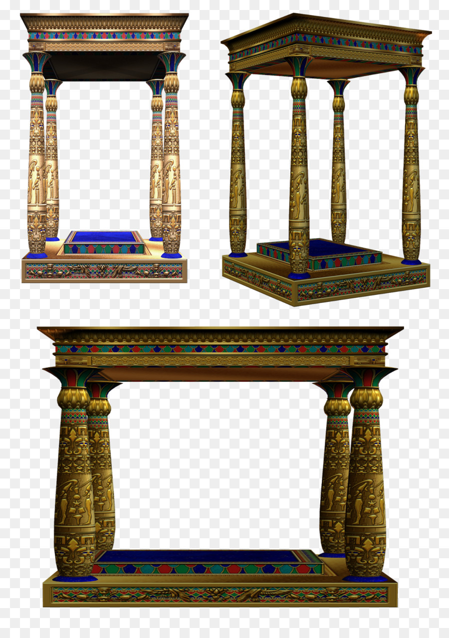 Free hd clipart egyptian painted column designs svg black and white library Painting Cartoon png download - 1137*1600 - Free Transparent Column ... svg black and white library