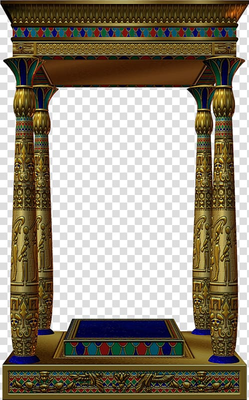 Free hd clipart egyptian painted column designs image transparent library Gold pooja altar, Ancient Egypt , Egyptian style small pavilion ... image transparent library