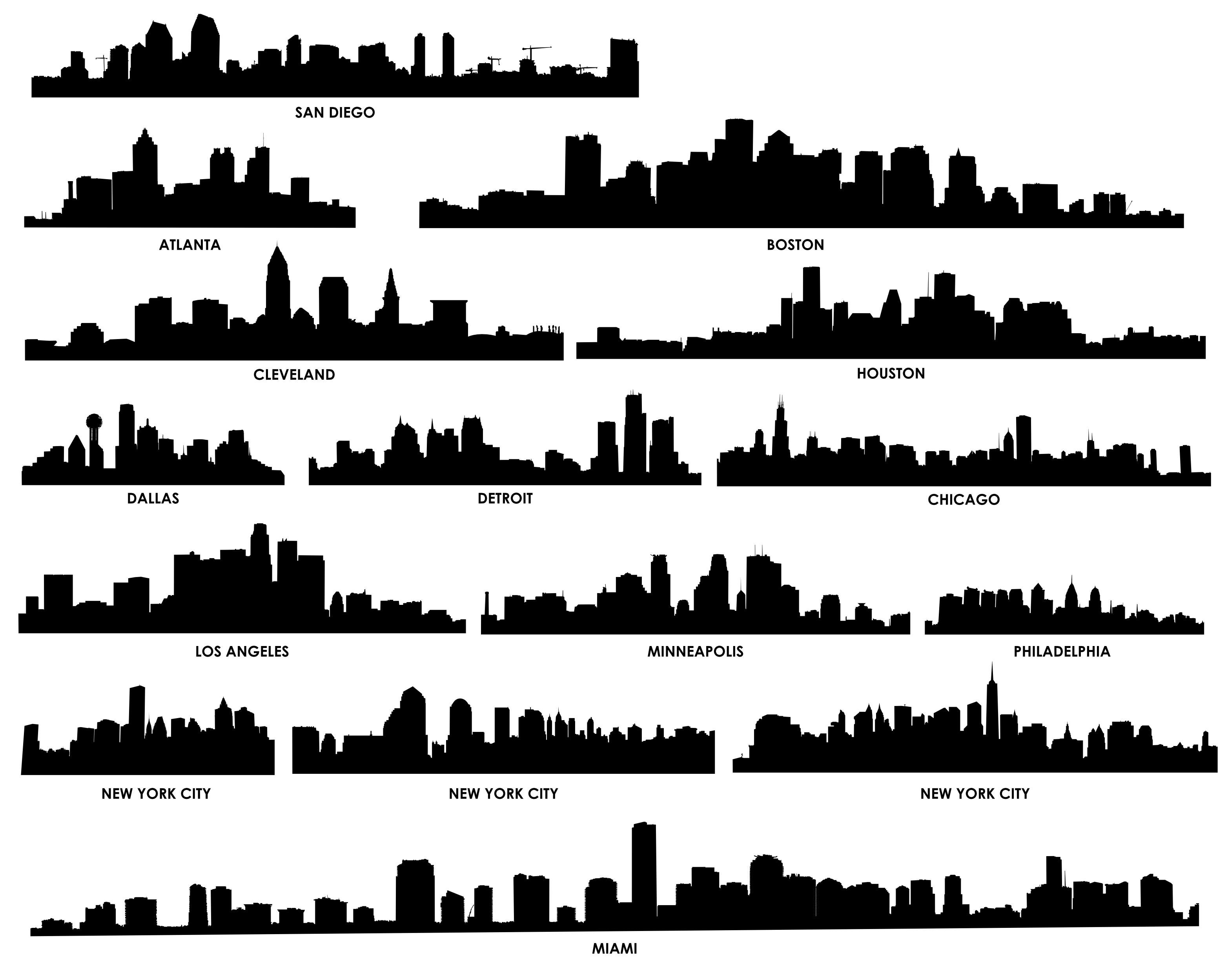 Free hd vector images of detroit skyline clipart picture library Free Atlanta Skyline Vector, Download Free Clip Art, Free Clip Art ... picture library
