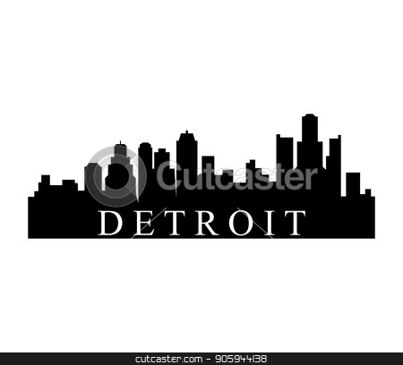 Free hd vector images of detroit skyline clipart black and white detroit skyline stock vector black and white
