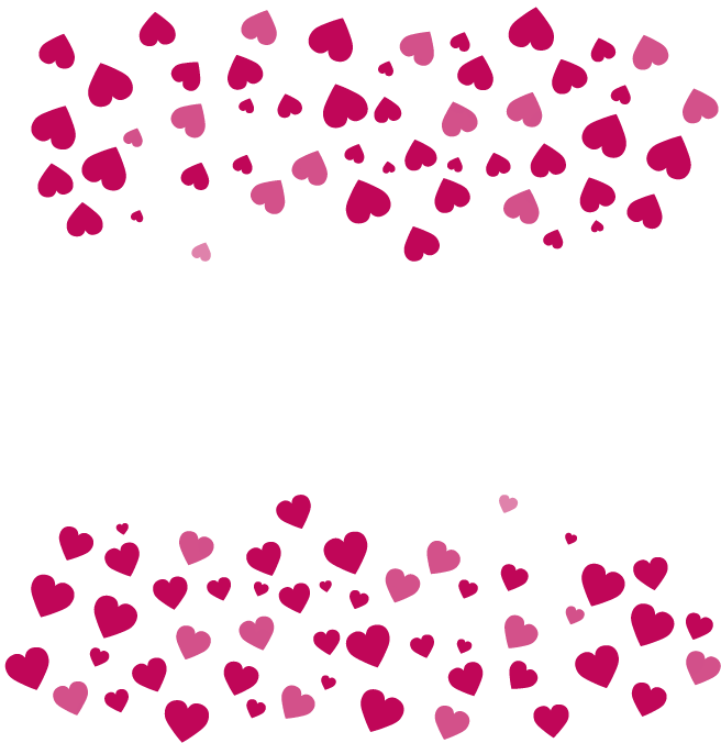 Pink heart border clipart vector transparent Heart Valentines Day Clip art - Cartoon Heart Border 656*676 ... vector transparent