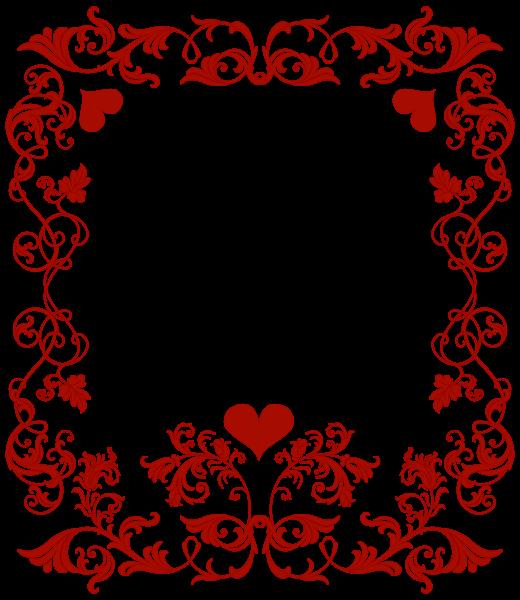 Free heart clipart borders svg transparent Valentine's Day Decorative Border Transparent PNG Clip Art Image ... svg transparent