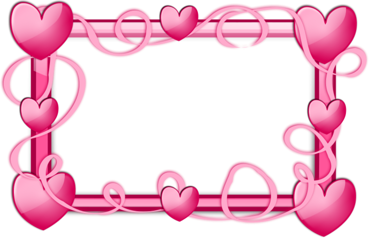Free heart clipart vector picture library Free Pink Hearts Frame PSD files, vectors & graphics - 365PSD.com picture library