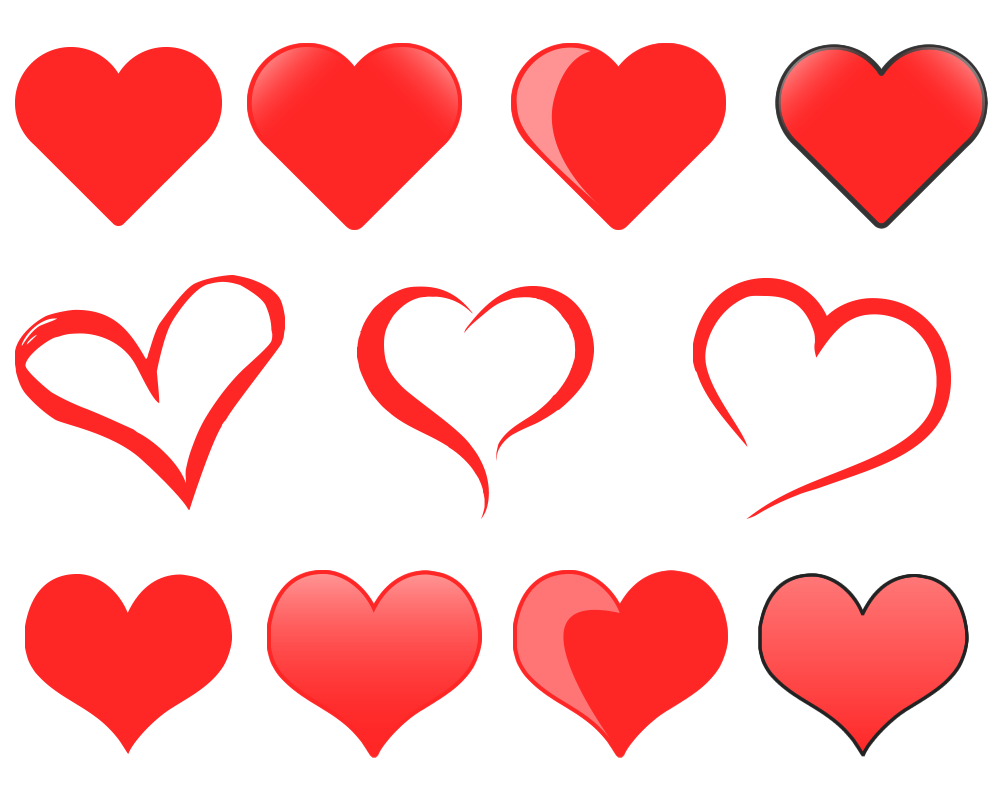 Free heart clipart vector clipart transparent stock Free Heart Graphic Pack - The Web Taylor clipart transparent stock