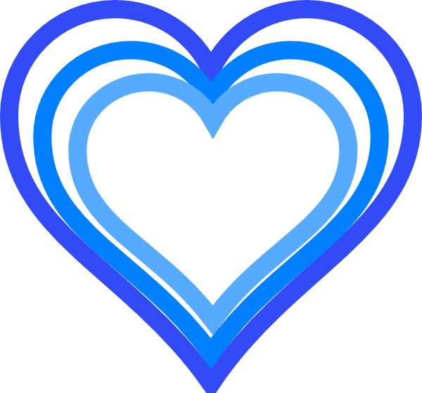 Free heart outline clipart royalty free Triple Blue Heart Outline Clip Art at Clker.com - vector clip art ... royalty free