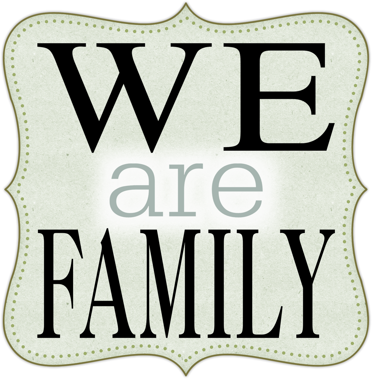 Welcome to our family clipart