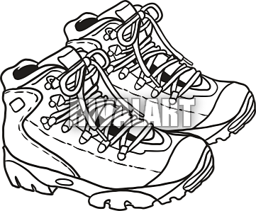 Paintings search result at. Free hiking boots and walking stick clipart