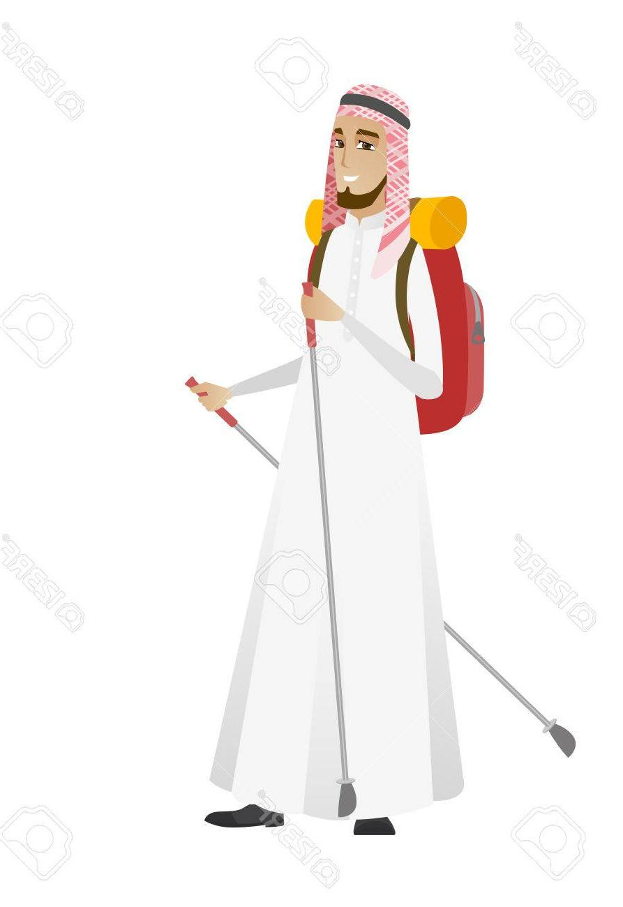 Free hiking boots and walking stick clipart. Best male hiker vector