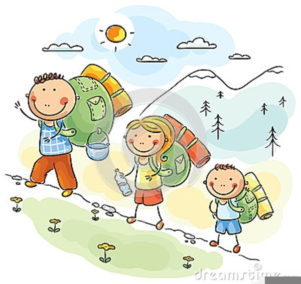 Of children images at. Free hiking clipart