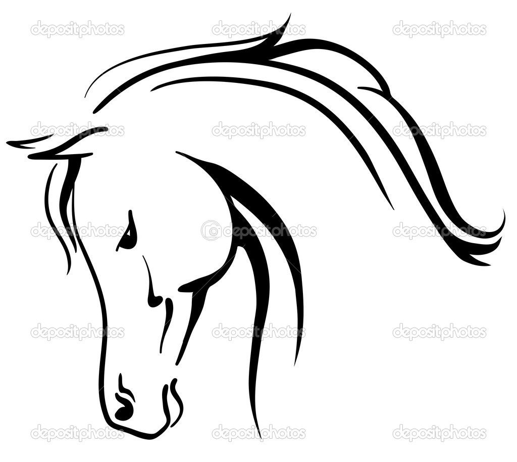 Free horse head clipart graphic black and white download Horse Head Clipart | Clipart Panda - Free Clipart Images | tattoo ... graphic black and white download