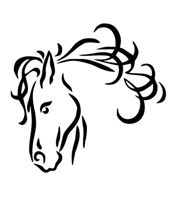 Horse drawing clipart svg free Horse Line Drawings Clip Art | 24 horse head line drawing free ... svg free