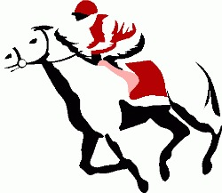 Free horse racing images clipart image black and white download Horse Racing Clipart | Clipart Panda - Free Clipart Images image black and white download